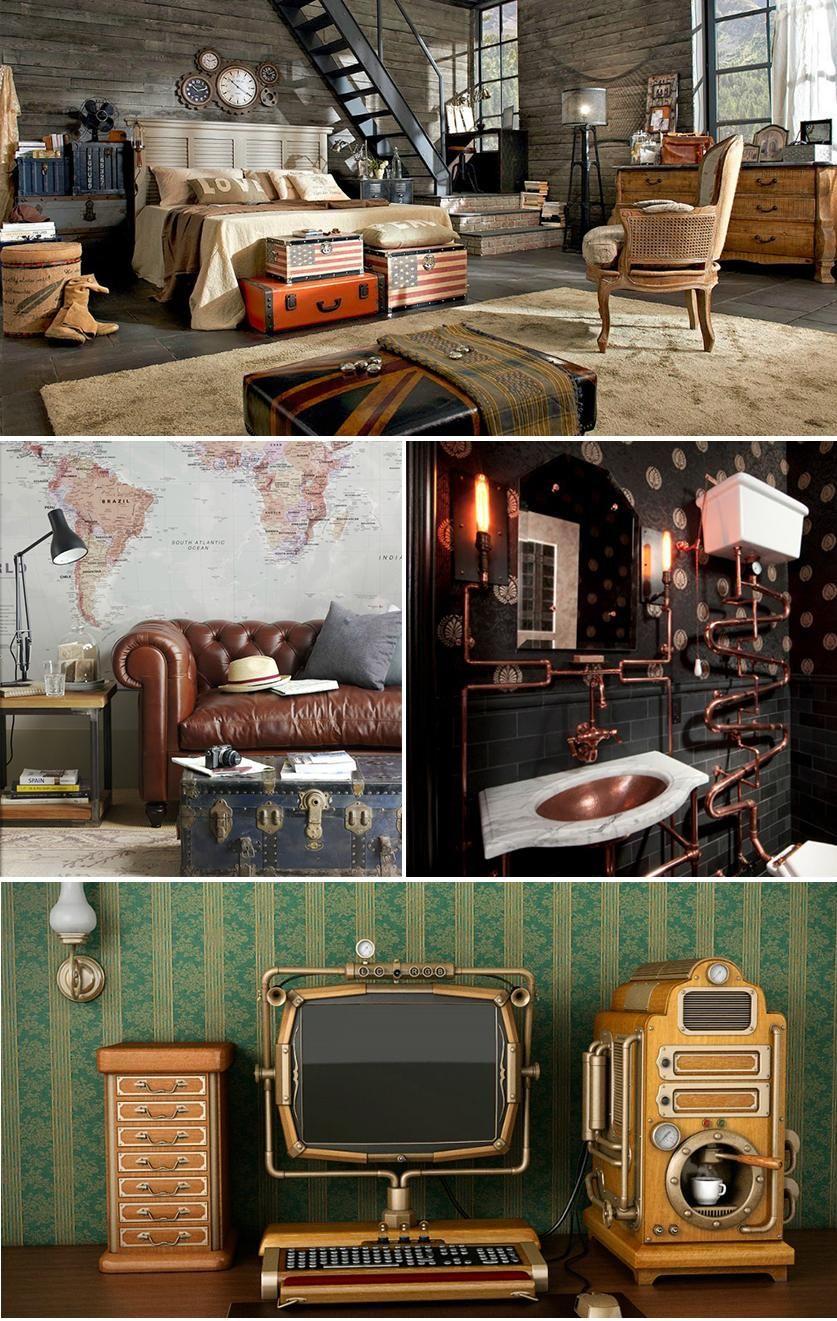 La Decoración Steampunk Combina Muebles Y Objetos Vintage