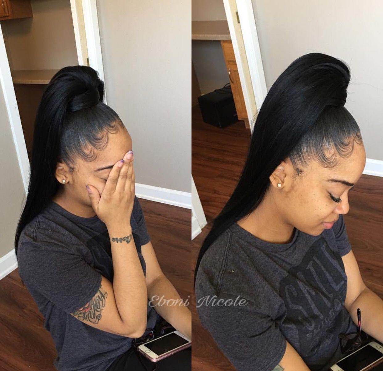 Pin By Kyra On Slayed Hair Long Ponytail Hairstyles Ponytail Styles High Ponytail Hairstyles