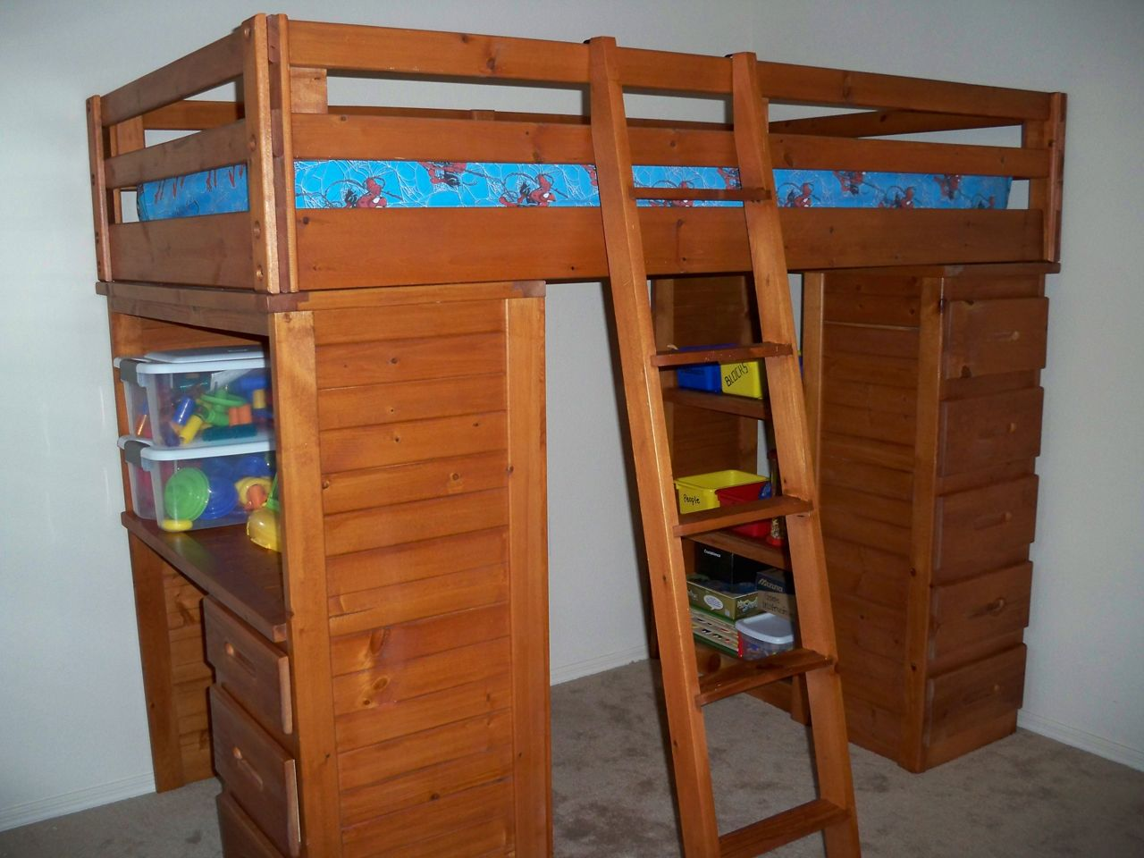 Loft Twin Bed with Drawers and Desk in Kate's Garage Sale