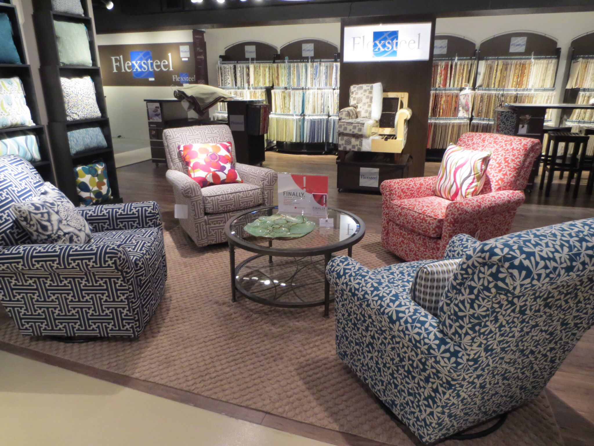 Bold chairs. Pick a wild print for your easy chair for a fun splash of color. Fashionable prints like Greek key or chevron, coastal prints, and florals. 2013 Fall High Point Furniture Market Trends by: Asia Evans Artistry for Manteo Furniture #HPMKT