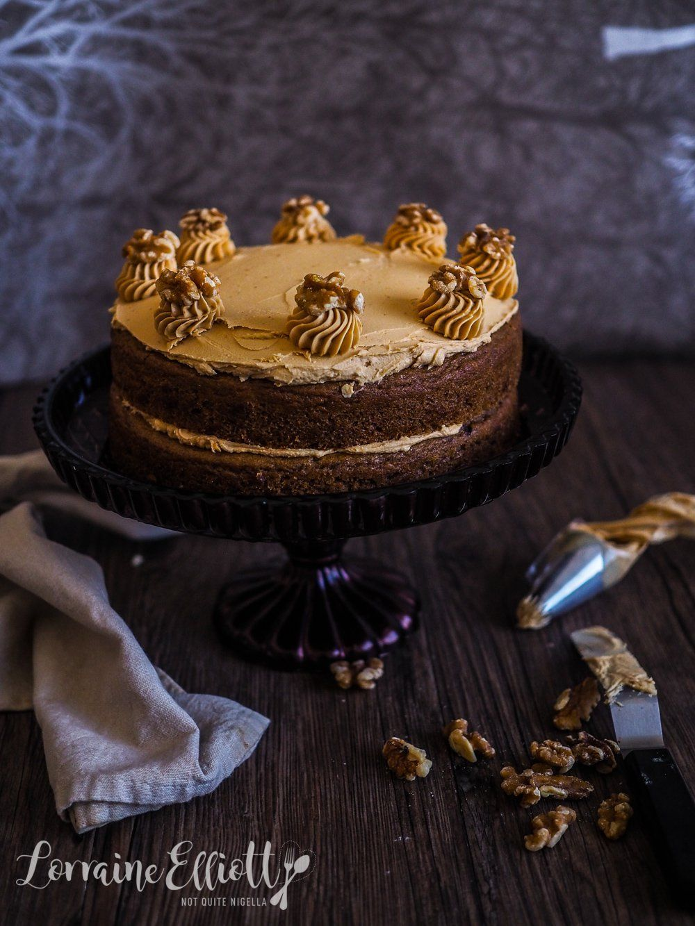 Vegan Coffee Walnut Sponge Cake Follow For Recipes Is This How You Roll Coffee And Walnut Cake Vegan Cake Cake