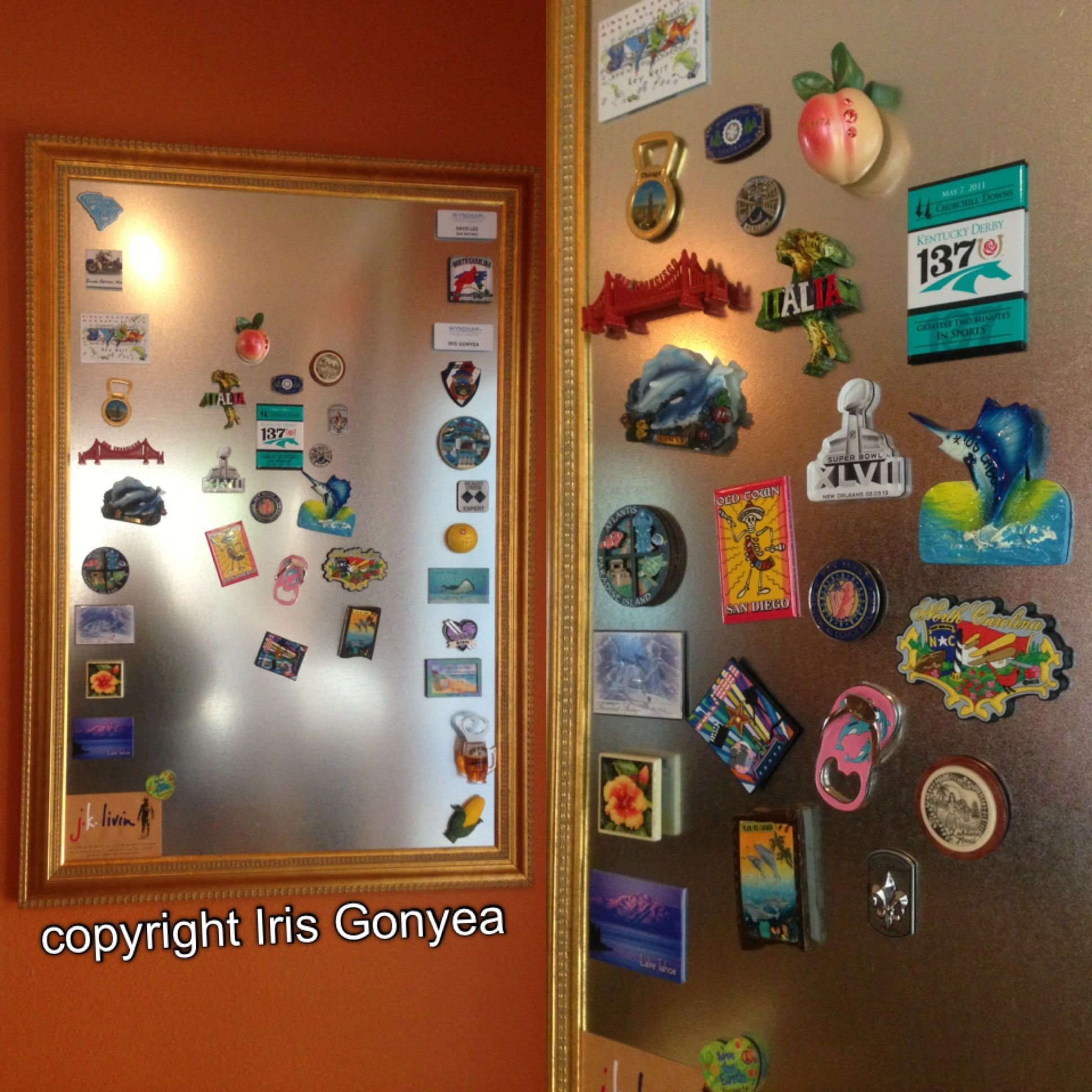 Tool Box Magnet Gift Card Insert Cereal Boxes Collage Refrigerator