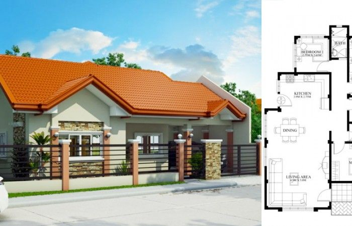 Bungalow house PHD-2015016 - Pinoy House Designs in 2020 ...