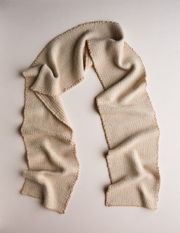 Reversible Stripes Scarf in New Yarns | Tejido