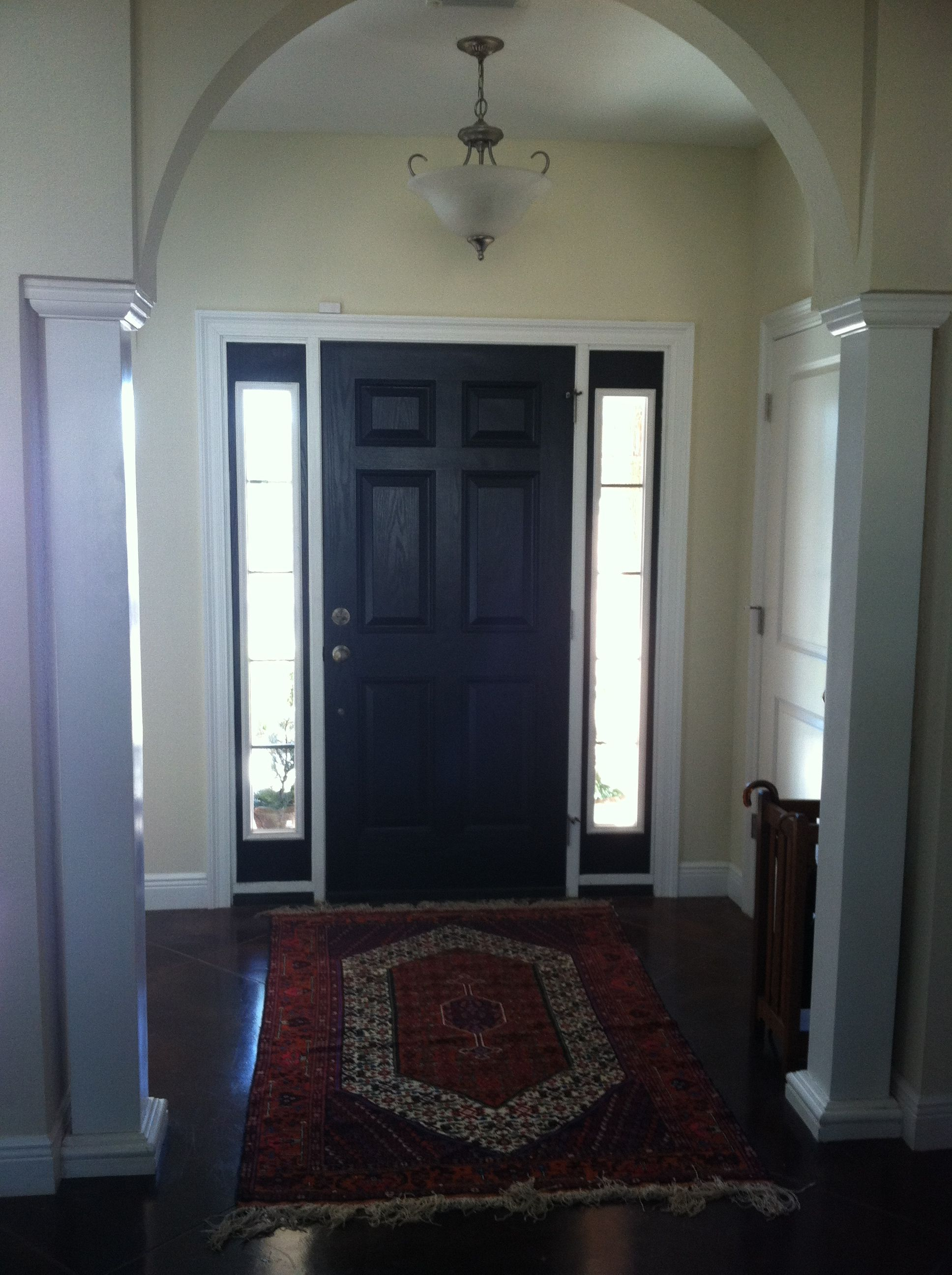 Repainted Black Front Door Interior Paint Adding Cl To Painting Entry Visit My Blog Askfordirection