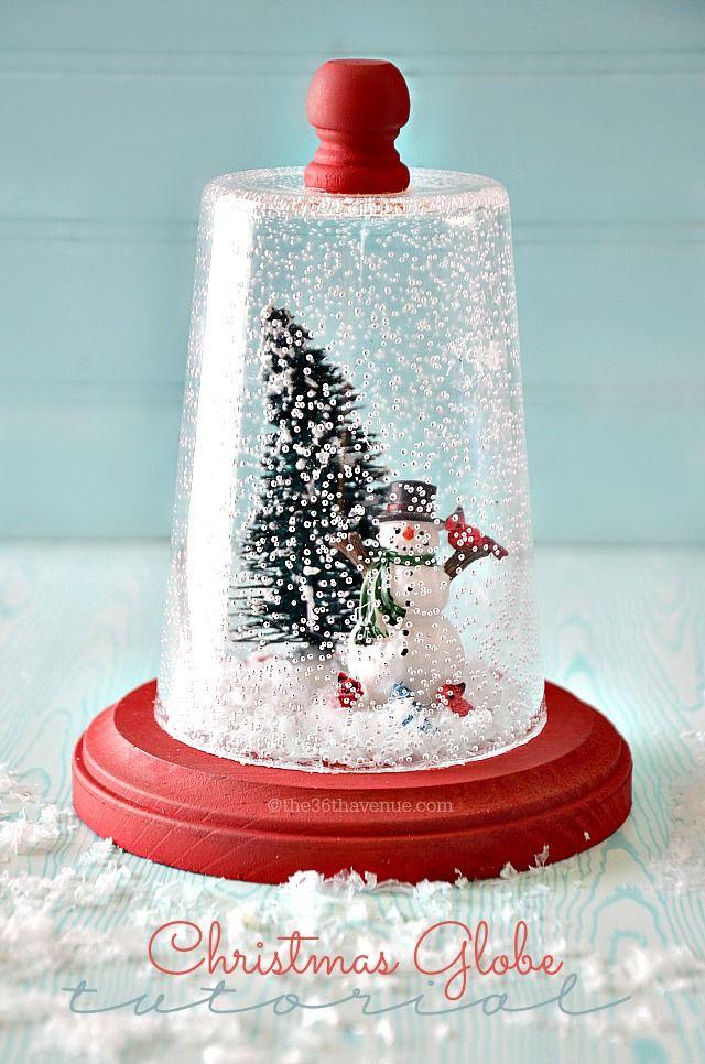 Ordinary Cute Christmas Craft Gift Ideas Part - 11: Christmas Gift Idea - Super Cute Snow Globe Tutorial!