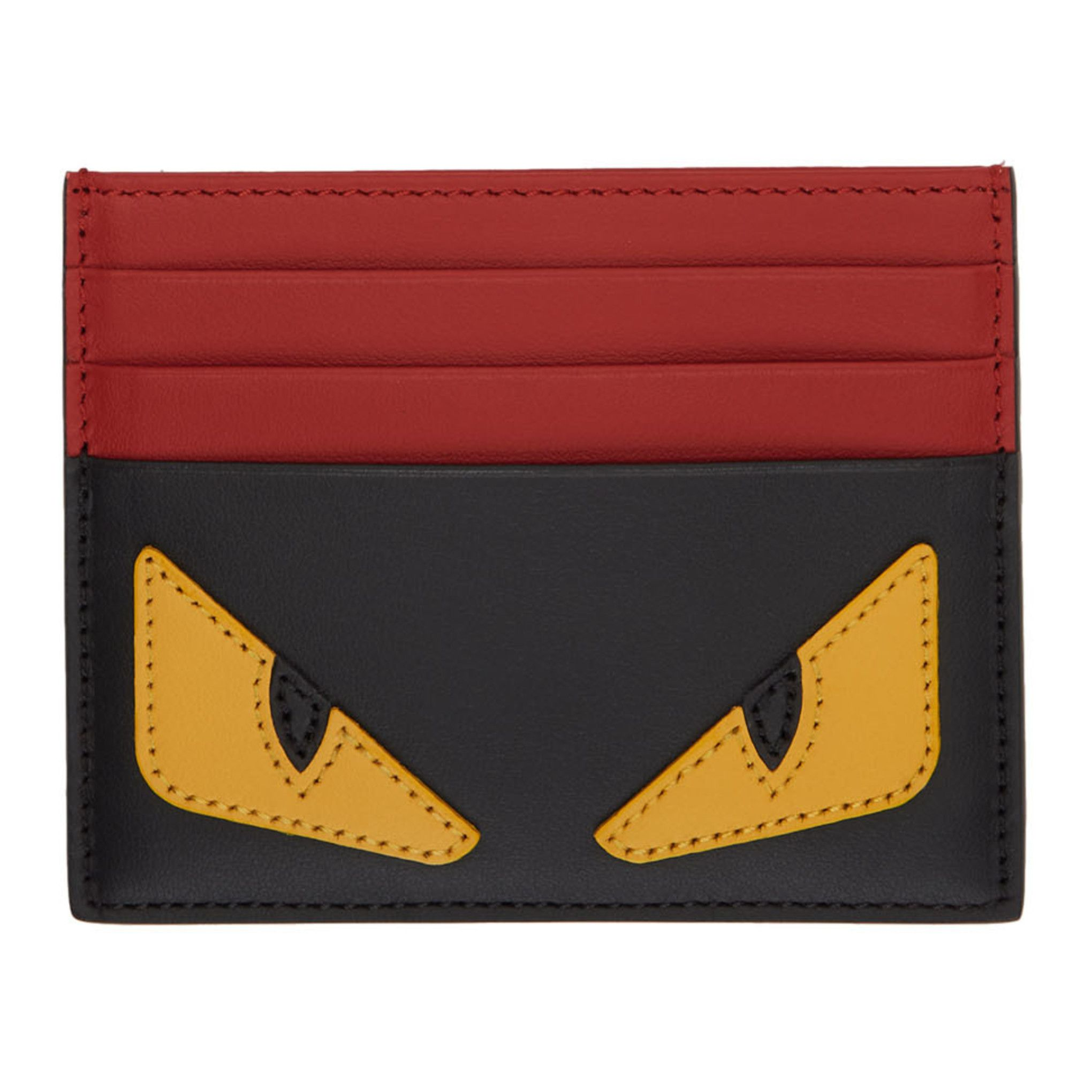 8a5b4dba59 Fendi Black and Red Bag Bugs Card Holder | Clothing | Red bags ...