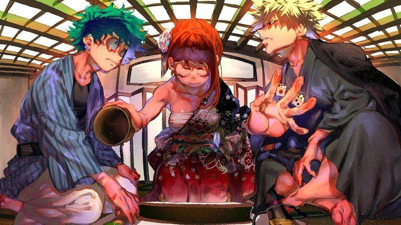 Izuku Midoriya Ochaco Uraraka Katsuki Bakugo My Hero Academia Boku No Hero Academia Anime 3840x2160 4k Wallpaper My Hero My Hero Academia Hero