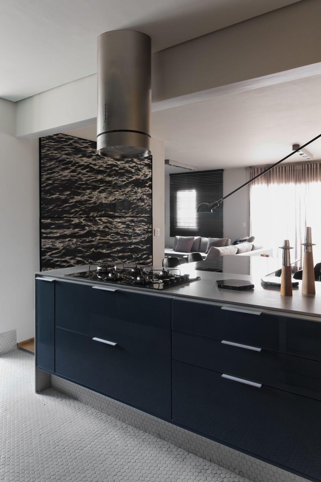 Küchenschränke blau petroleum apartment by diego revollo arquitetura  einrichtungen