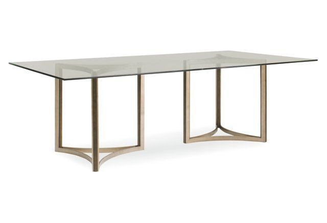 """Ambra 96"""" Dining Table Pewter 251 south dining room"""