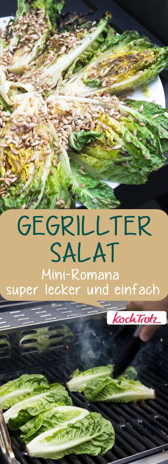 gegrillter salat mini romana gegrillt super lecker einfach und schnell blogger barbecue. Black Bedroom Furniture Sets. Home Design Ideas