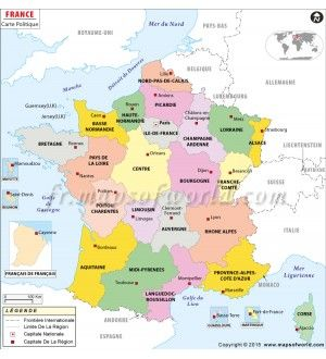 Buy France Map in French Language French Language Maps