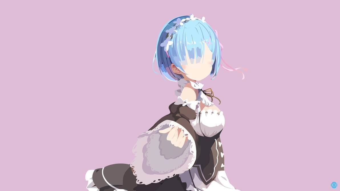 Rem (Re: Zero) Anime Minimalist by jmsedwrd on DeviantArt