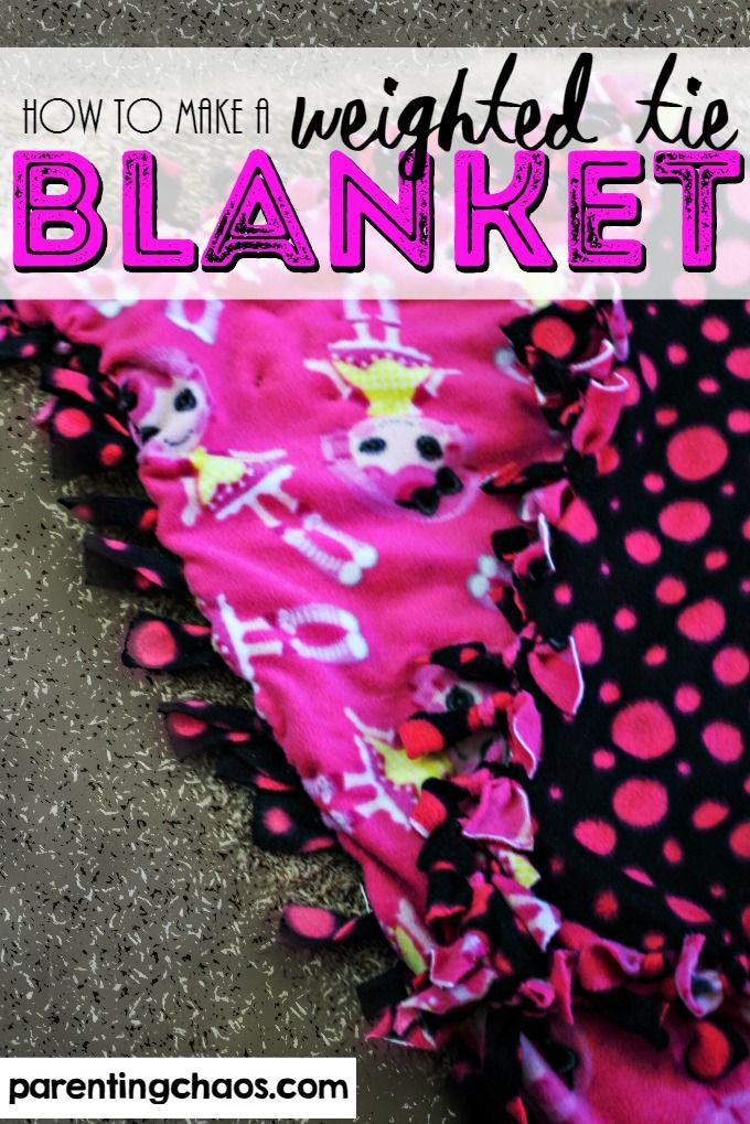 How To Make A Weighted Tie Blanket That S Machine