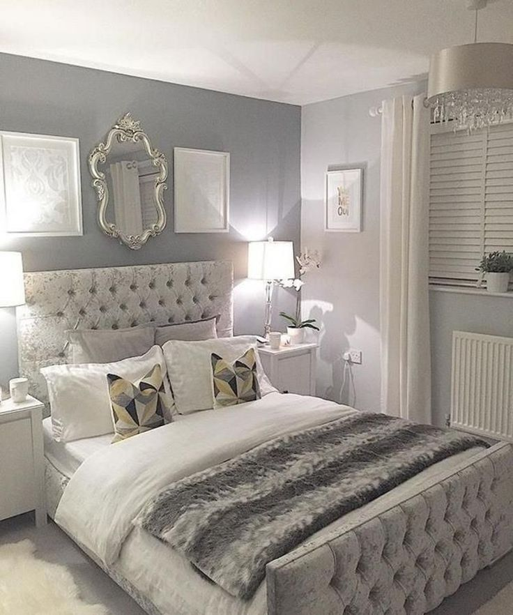 Schöne blaue und graue SchlafzimmerDesignIdeen, blaue