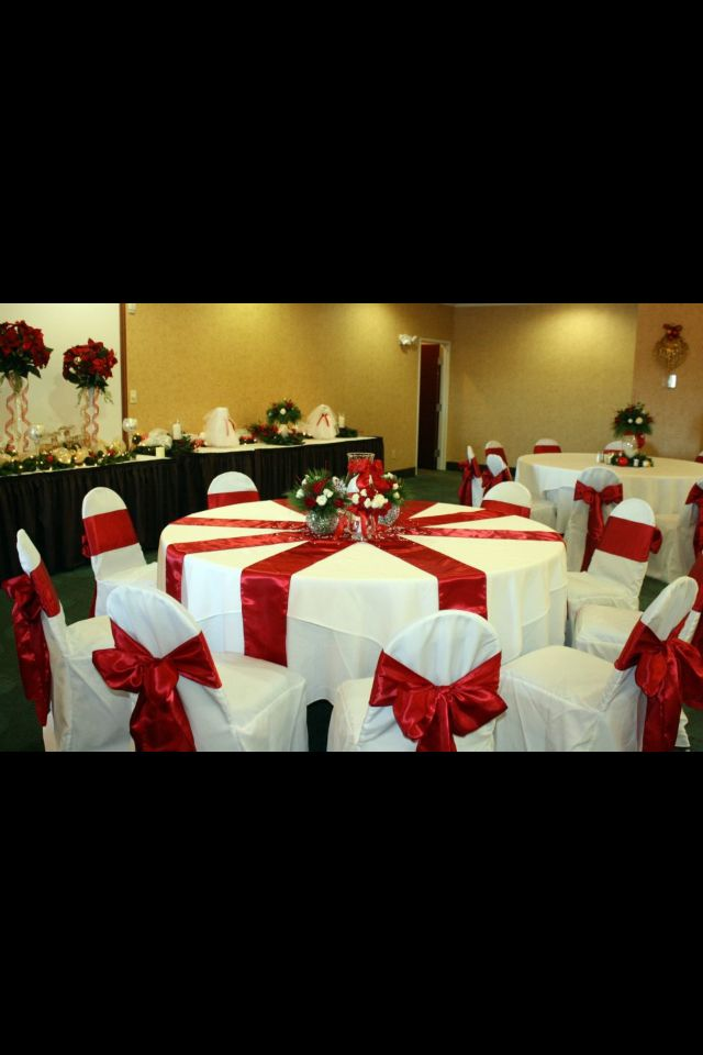 Banquet Decoration Christmas Church Banquet Decorations