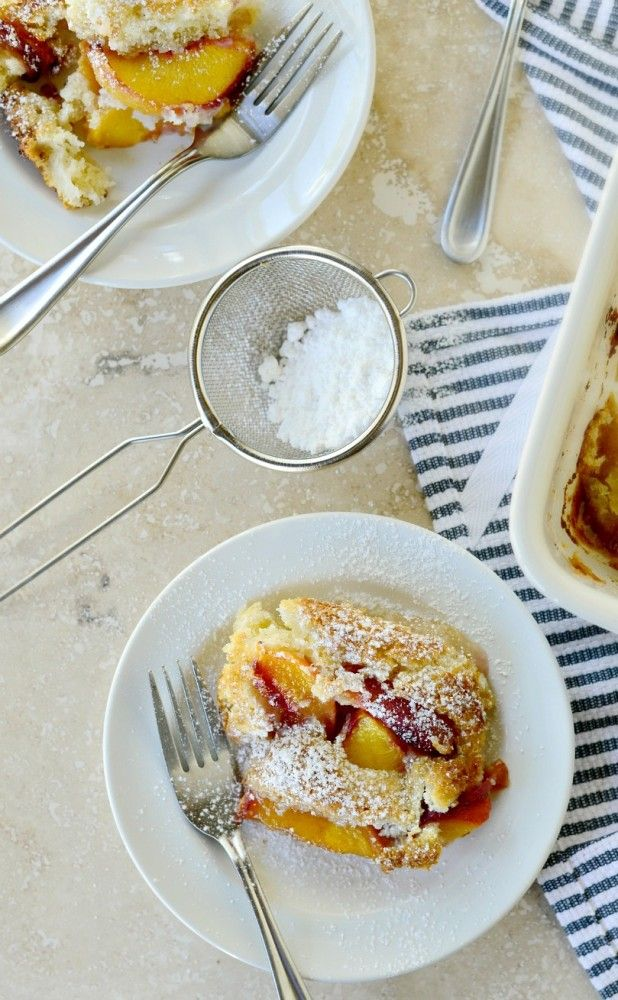 Brown Butter Peach Cobbler #peachcobblercheesecake