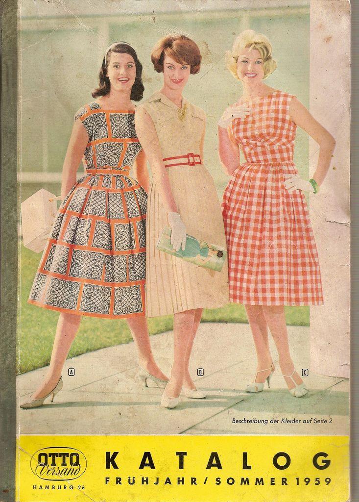 1959 otto katalog titel werbung pinterest for Versand katalog