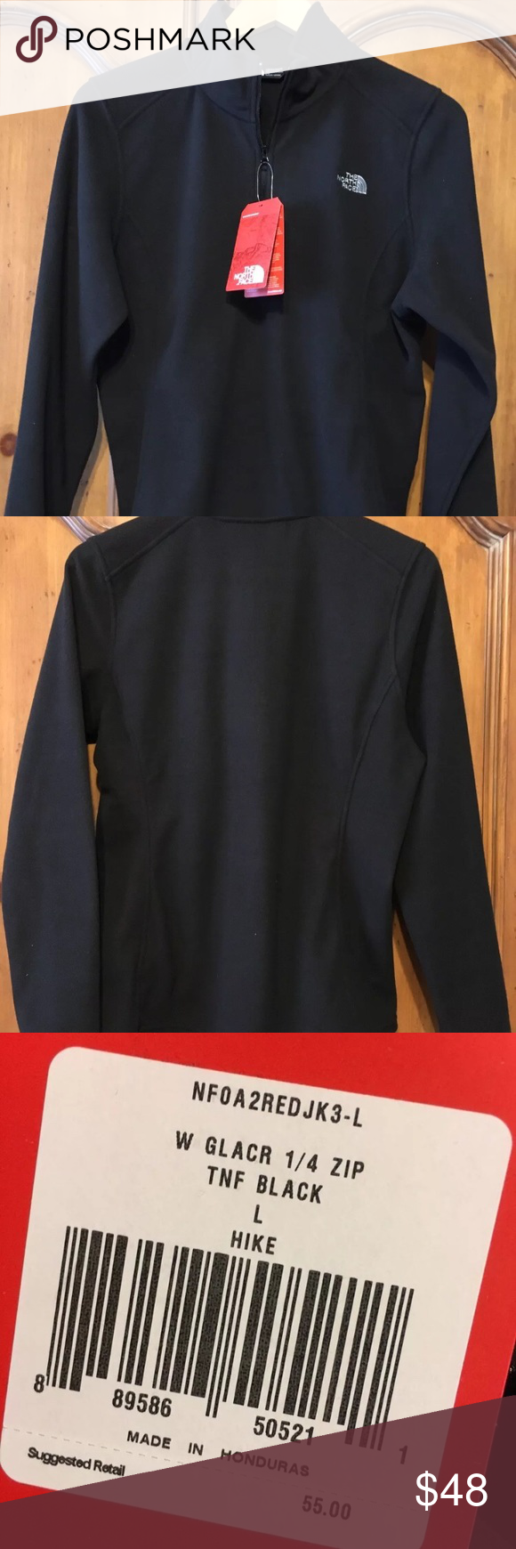 c9942b379 Nwt North face large glacier 1/4 zip fleece New with tags ...