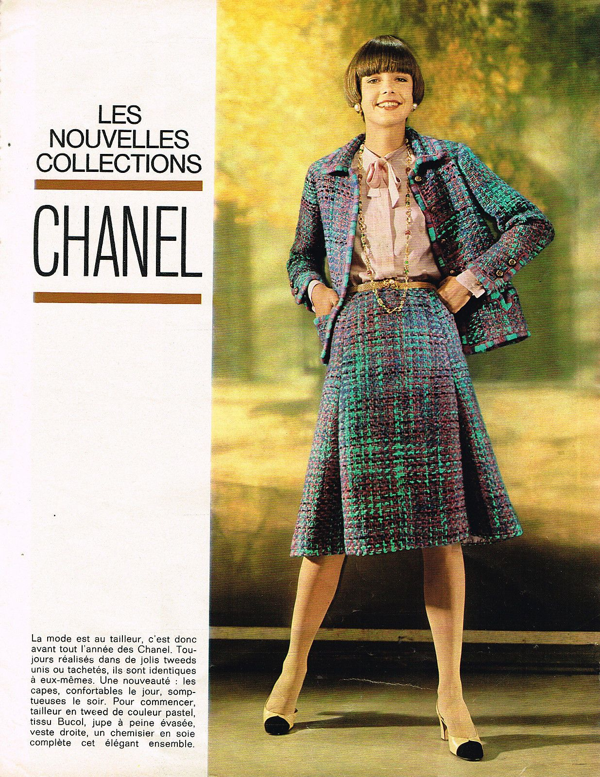 Publicite Advertising 015 1974 Chanel Nouvelle Collection Haute ...