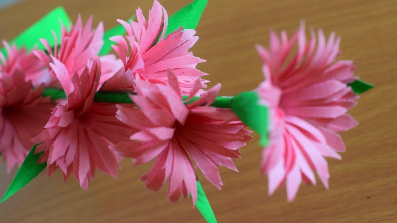 Diy Home Decorations Paper Flowers Decorations Youtube Paper Flowers Paper Flowers Craft Flower Diy Crafts