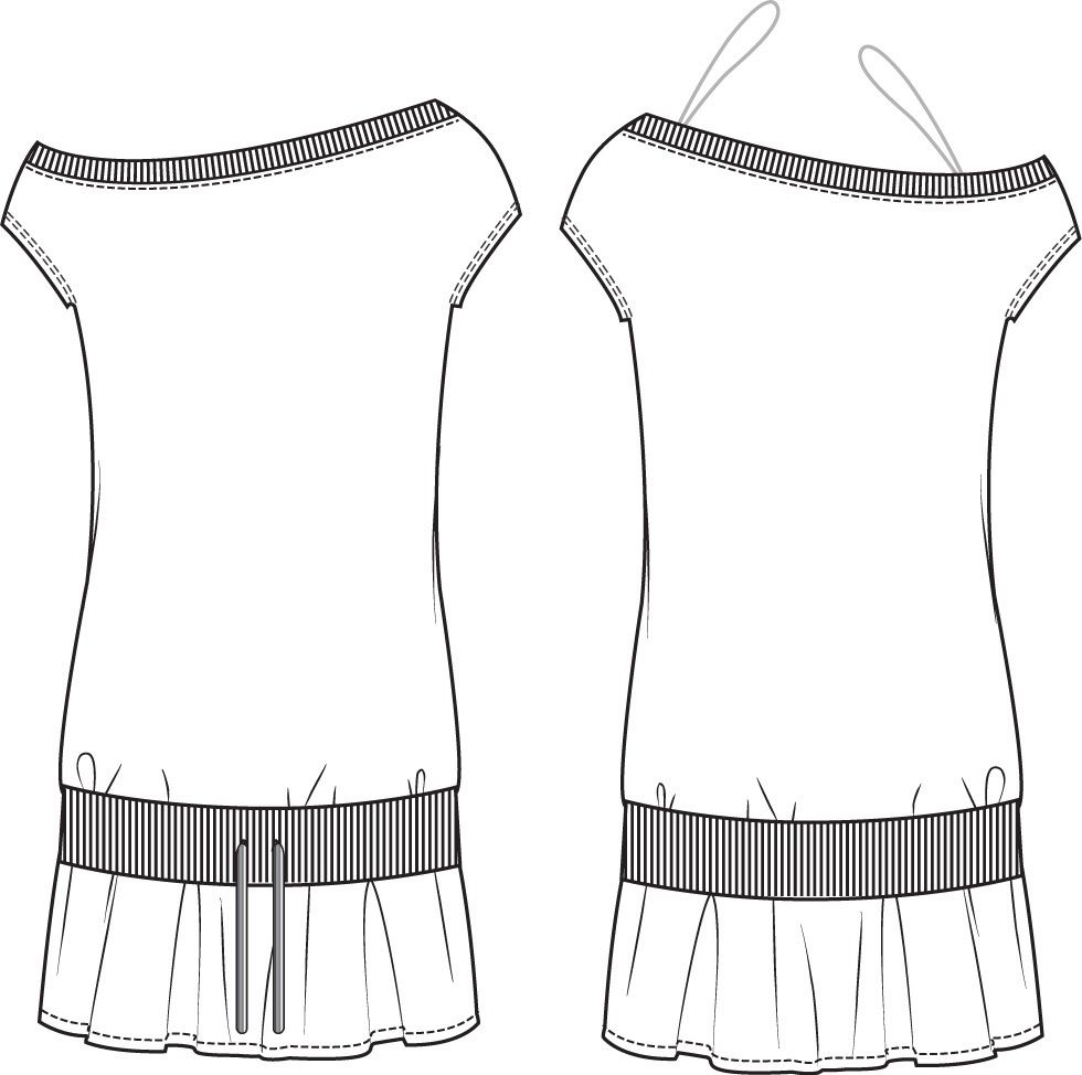 Free Flat Fashion Sketch Dress