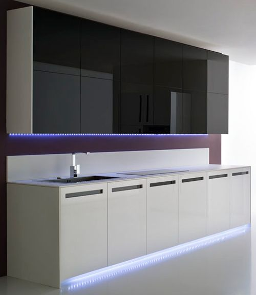 Lumilum LED strips under the cabinet and toe kick accent ...
