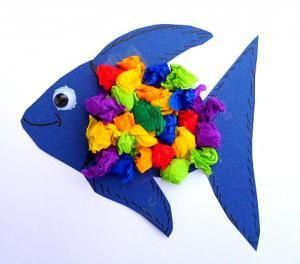 Aquarium Aus Karton Und Tonpapier Tiere Basteln Meine Enkel Und