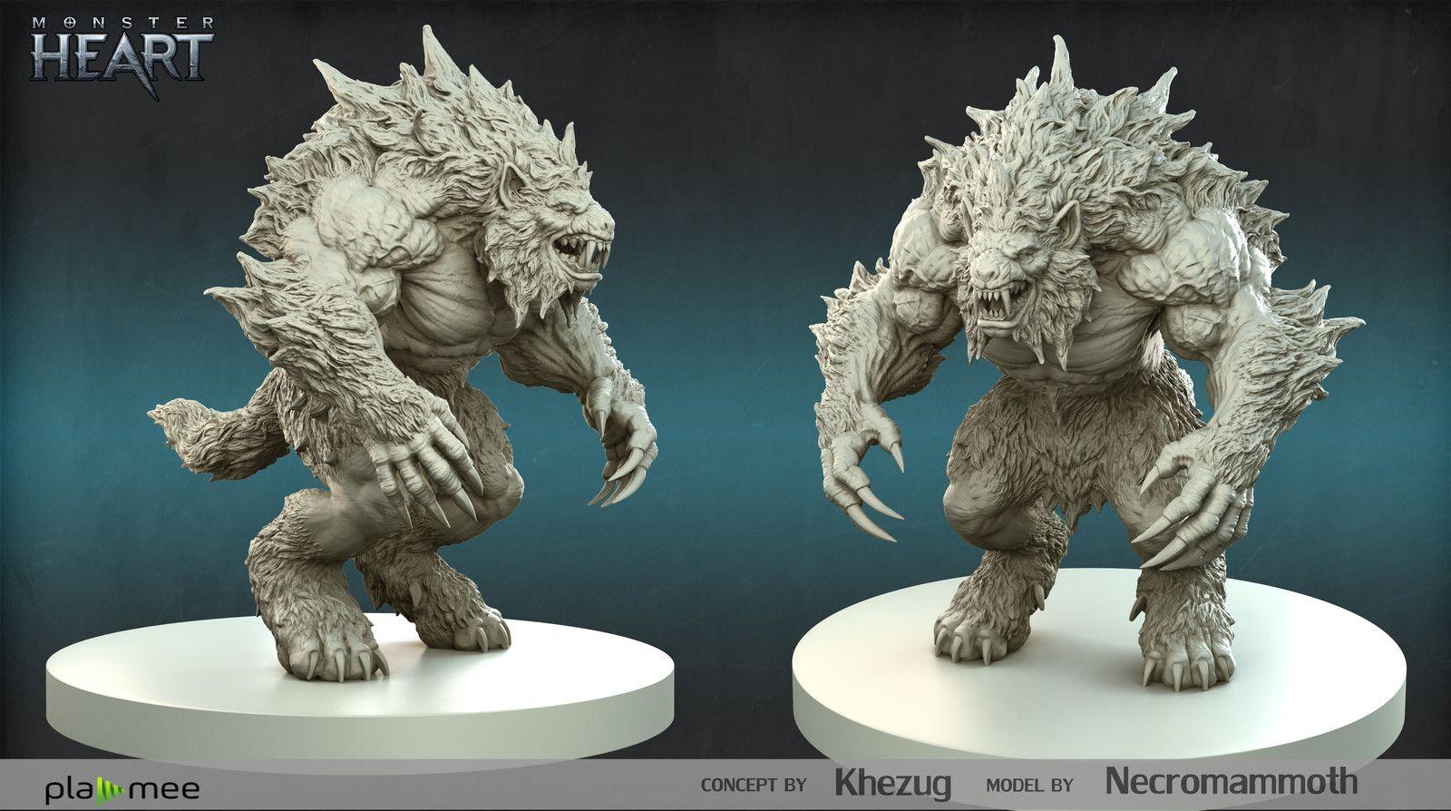 Werewolf Boss Anthony Guzeyev Werewolf Creature Art Character Design