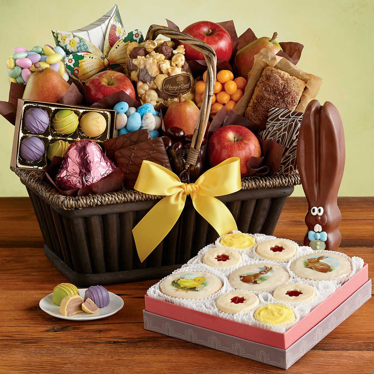 The supreme easter gift basket is the most complete of our easter shop the supreme easter gift basket and more pre made easter baskets delivered from harry david negle Image collections