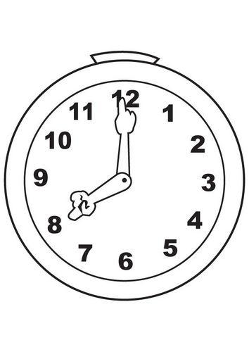 Gratis Kleurplaten Klokken.Kleurplaat Klok Een Nieuw Jaar Schatkist Clock Hand Coloring