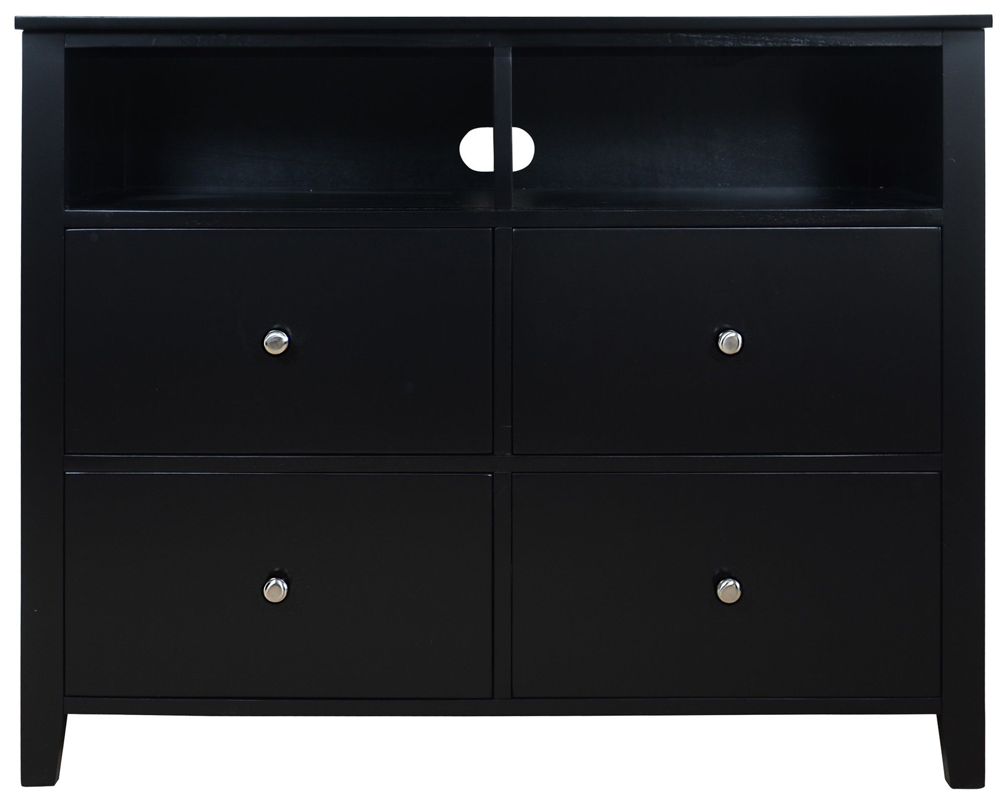 Brooklyn Black Chest of drawers, Media Chest | Bedroom ...