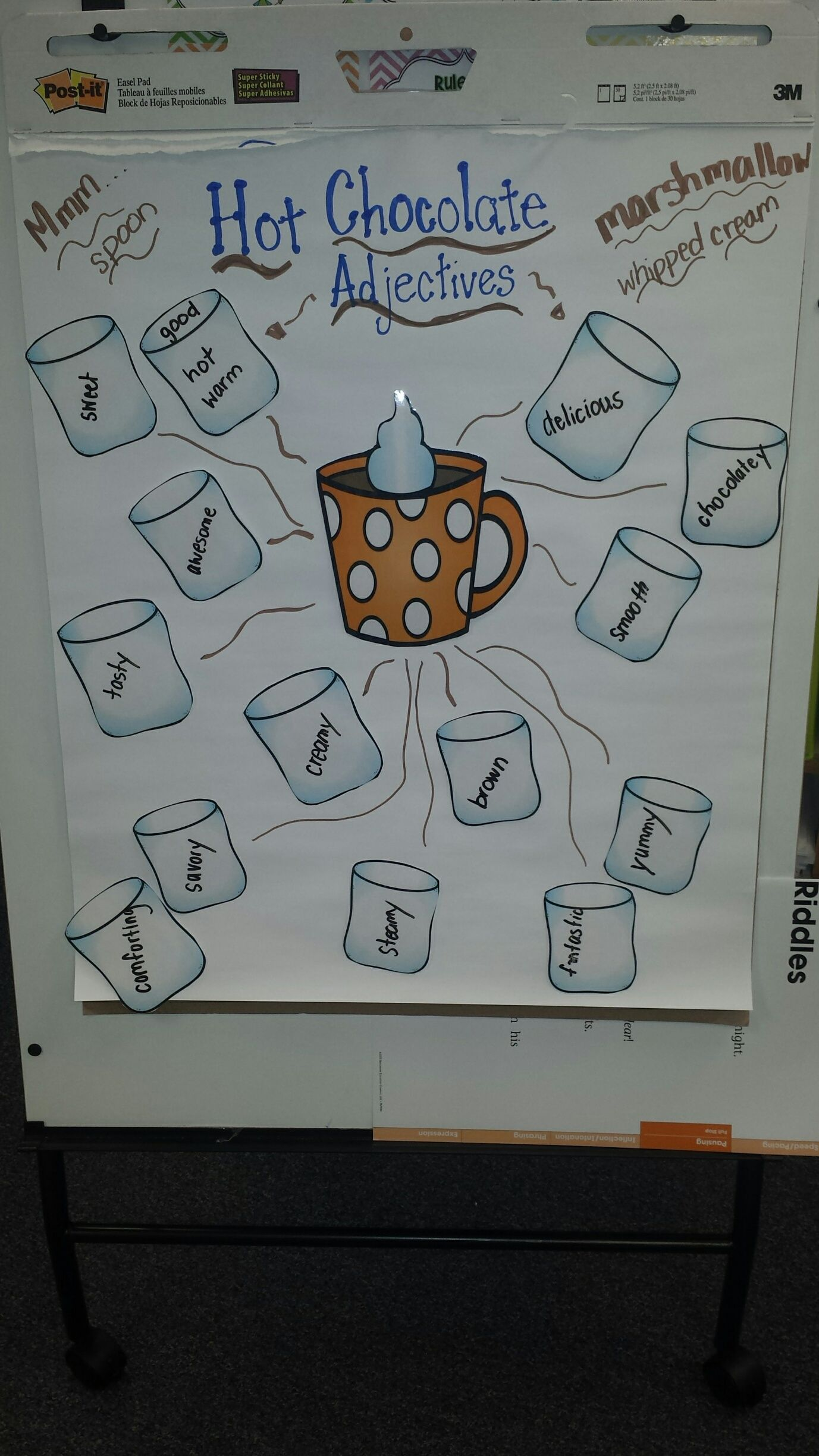 Sequencing And Adjectives Made Fun With Hot Chocolate