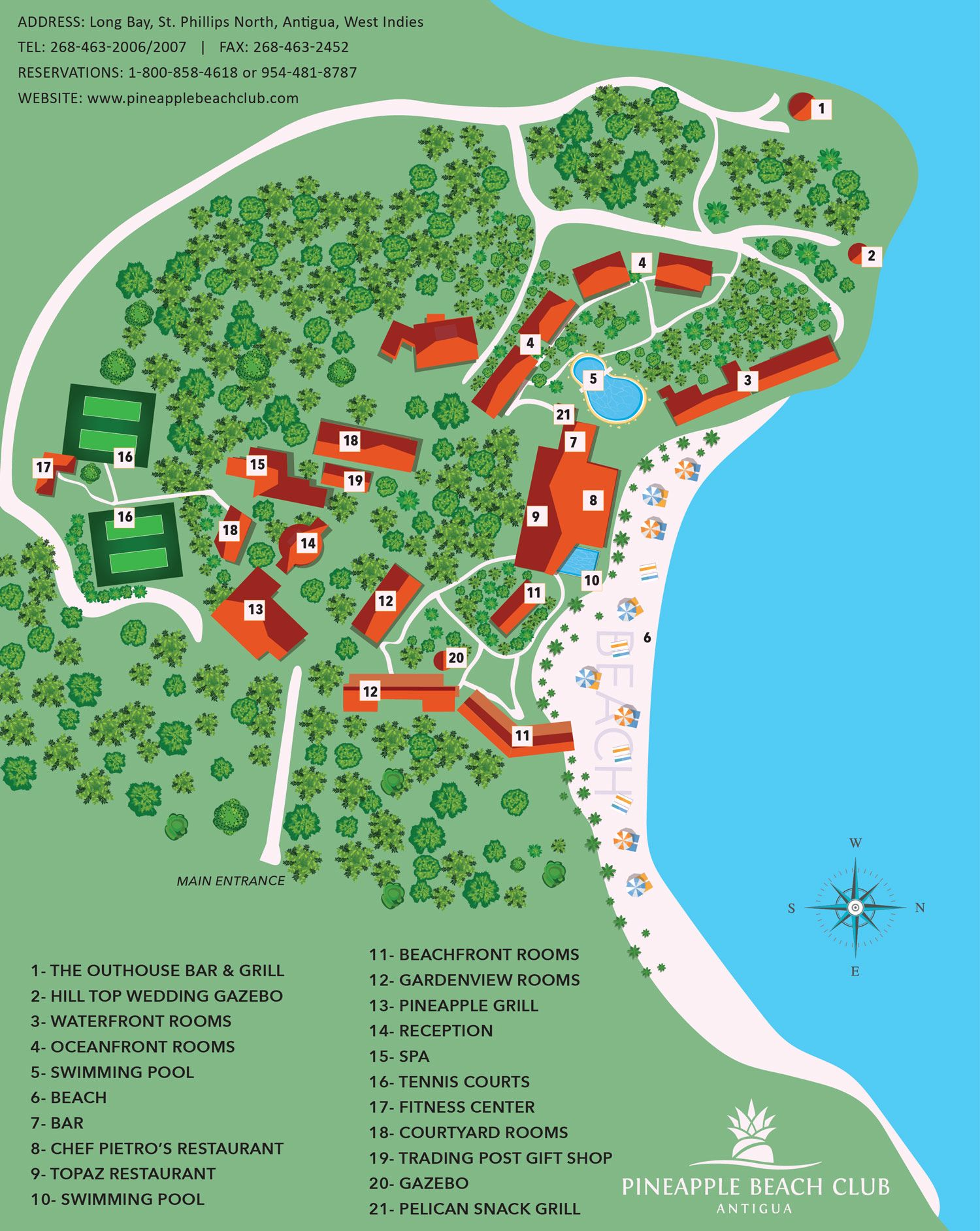 Explore Everything Pinele Beach Club Has To Offer With This Easy Read Map
