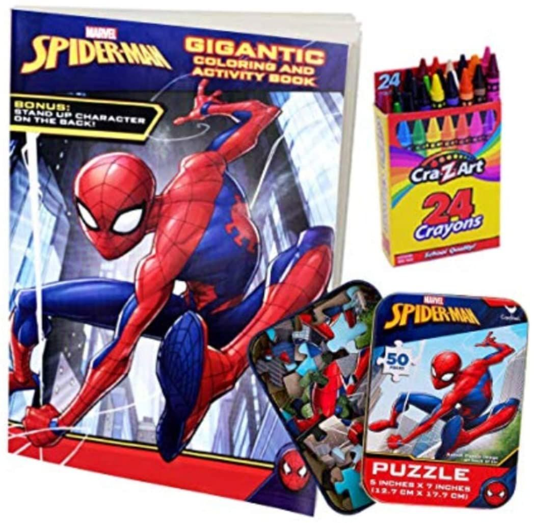Colorboxcrate Spider Man Far From Home Coloring Book Toy Set 3 Pack Includes Spiderman Coloring And Activity Spiderman Coloring Coloring Books Book Activities