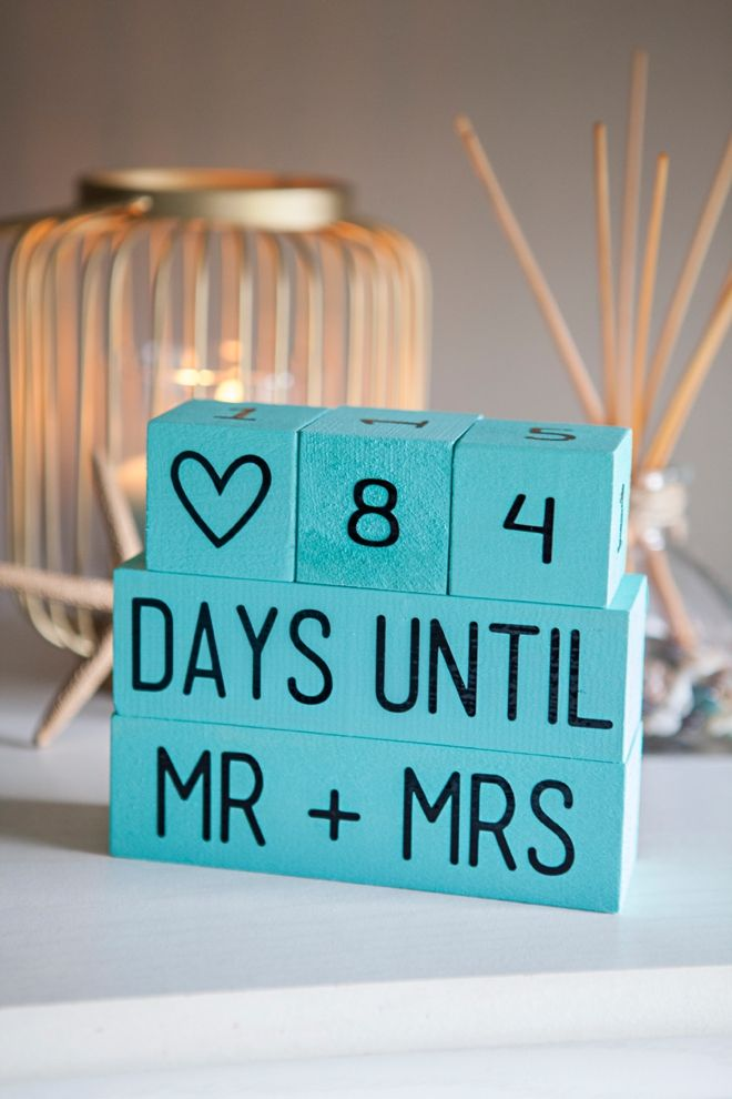 Learn How To Make Your Own Wedding Countdown Blocks Wedding Countdown Diy Wedding Countdown Blocks