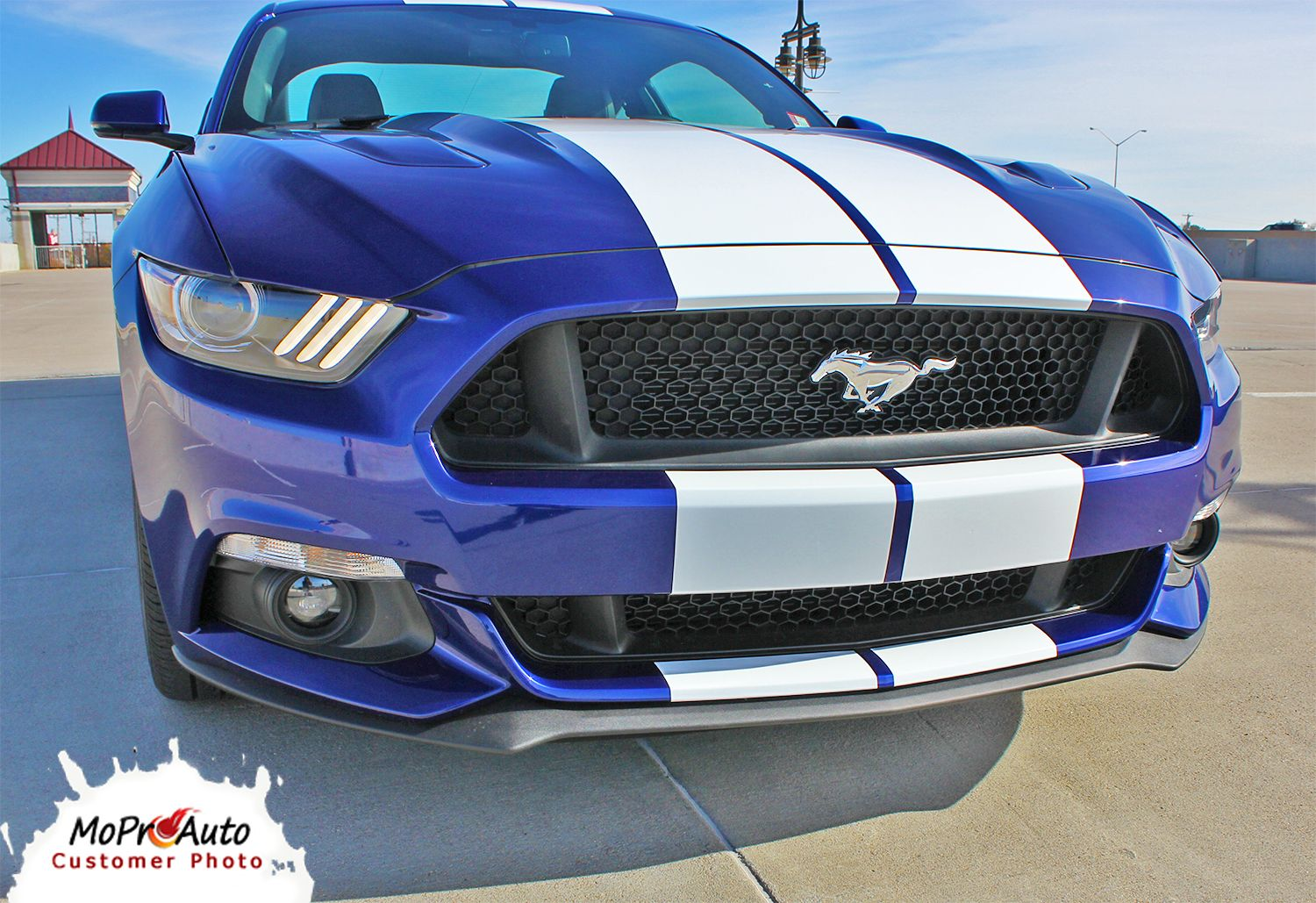 Stallion 2015 ford mustang lemans style racing and rally stripes vinyl graphics kit moproauto