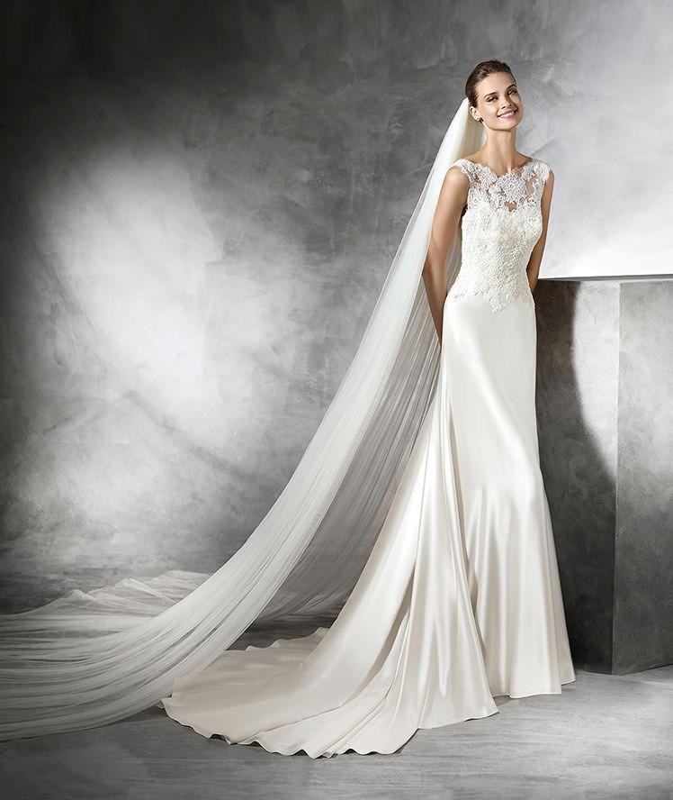 TASMIN - Simple lace wedding dress | Brautkleid mit Spitze ...