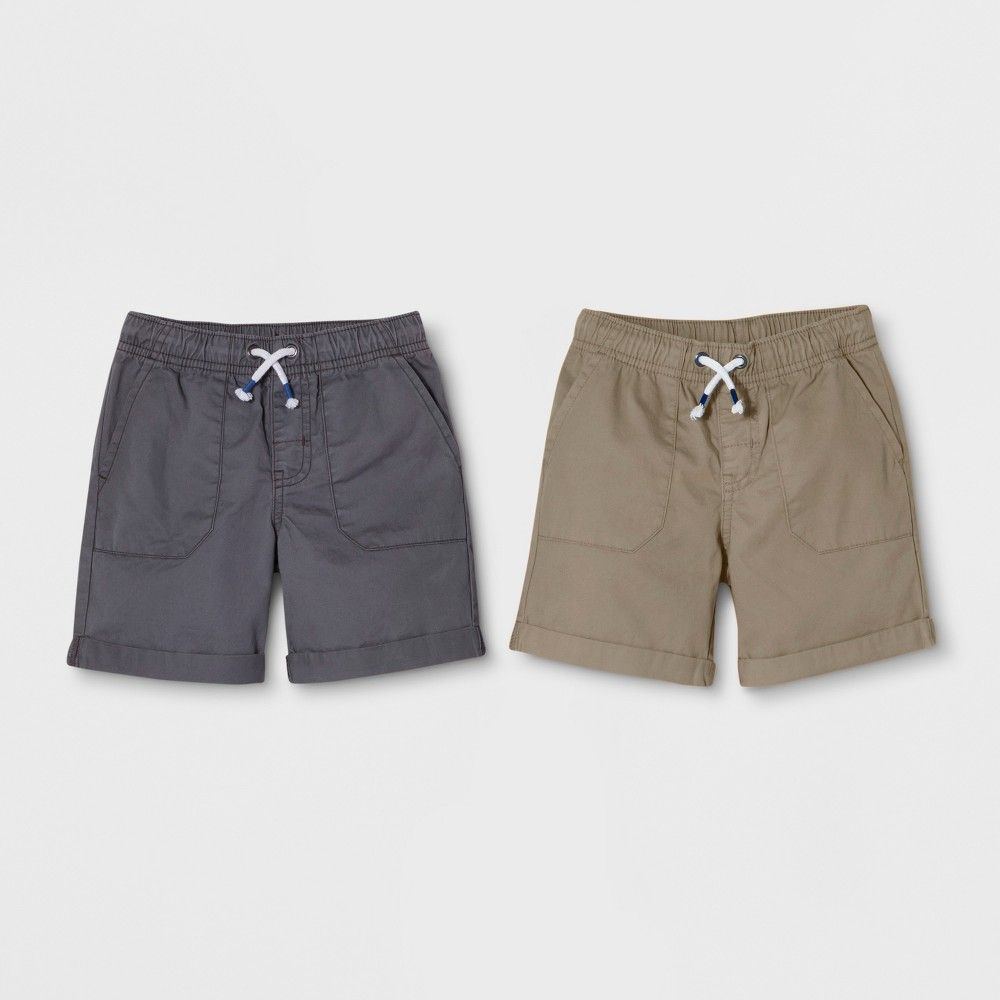 1be7f0f7e43d ... of Pull-On Shorts from Cat and Jack will keep him comfy throughout the  day. Crafted in super soft 100 percent cotton twill fabric these toddler  boys  ...