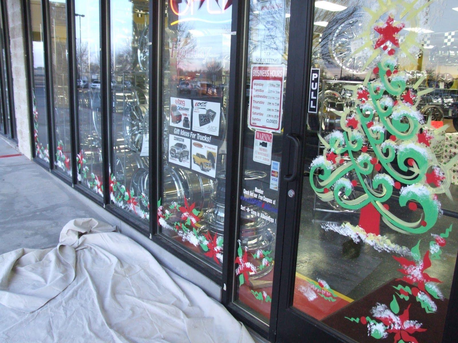 Window Splashes From The Window Painting Pro Christmas Window Painting Window Painting Painted Window Art