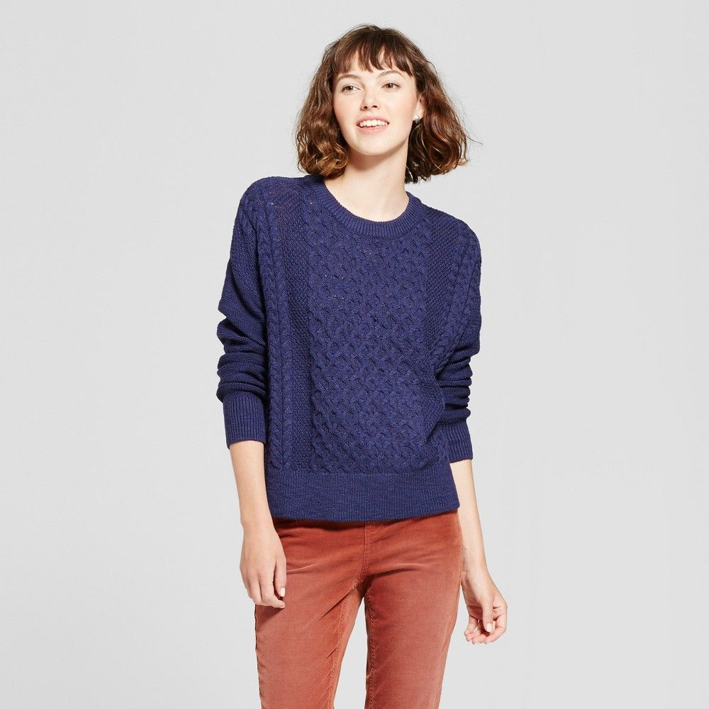 Women's Pullover Sweater - Mossimo Supply Co. Navy (Blue) Xxl ...
