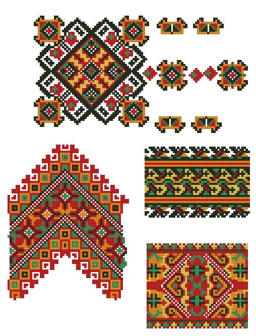 Этнические узоры вышивка схема
