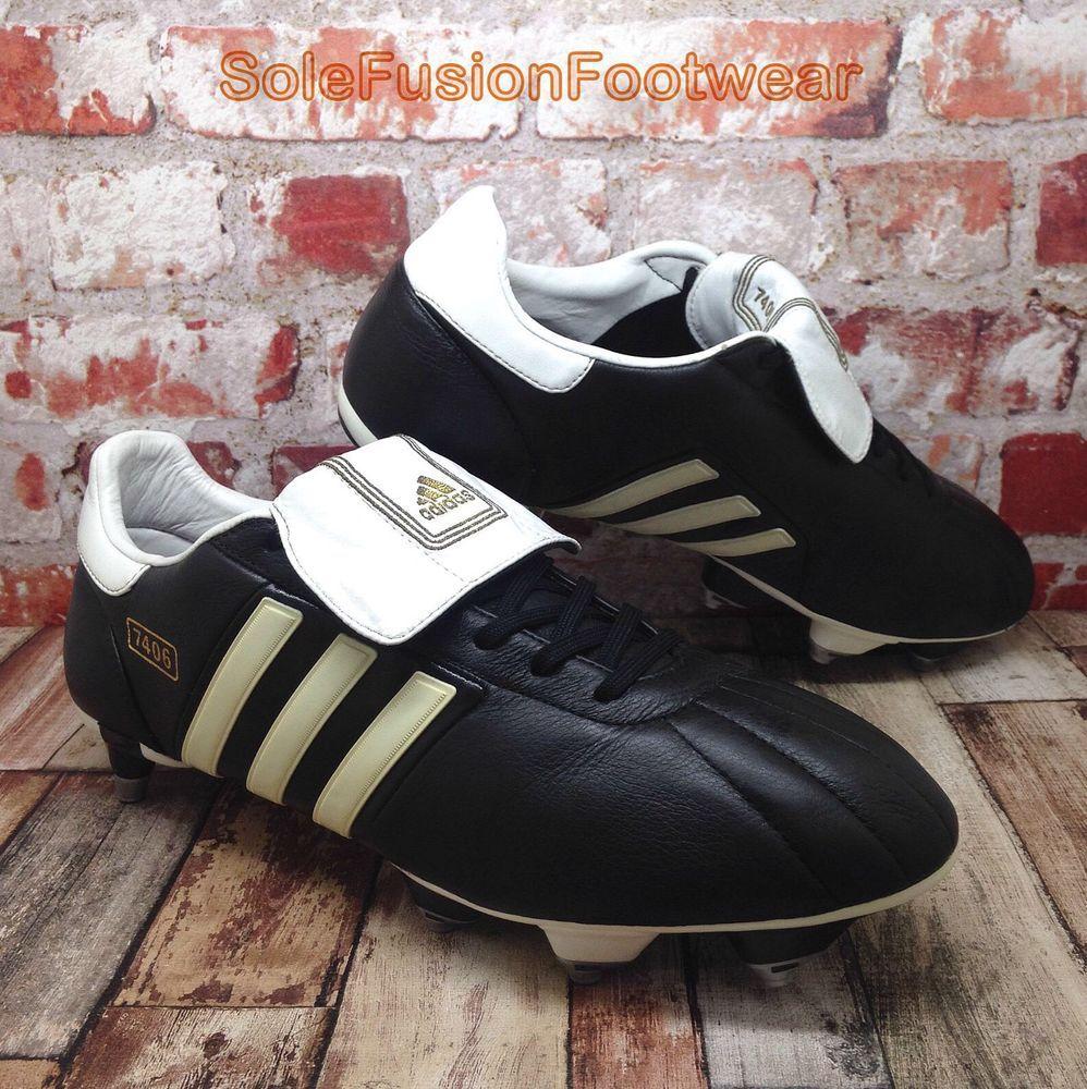 adidas 7406. Adidas 7406 Mens TRX Football Boots Black Sz 10 SG Mania Soccer Cleats EU 44 2/3 L