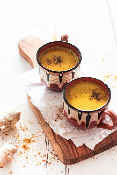 Vegane goldene Milch - entzündungshemmendes Getränk | Goldene milch ...