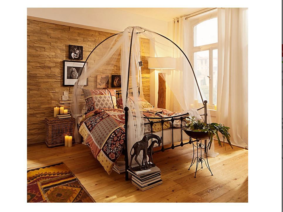 Himmelbett u201eAurorau201c aus schwarzem Metall Mit kuppelförmigem Metall - wohnzimmer ideen afrika