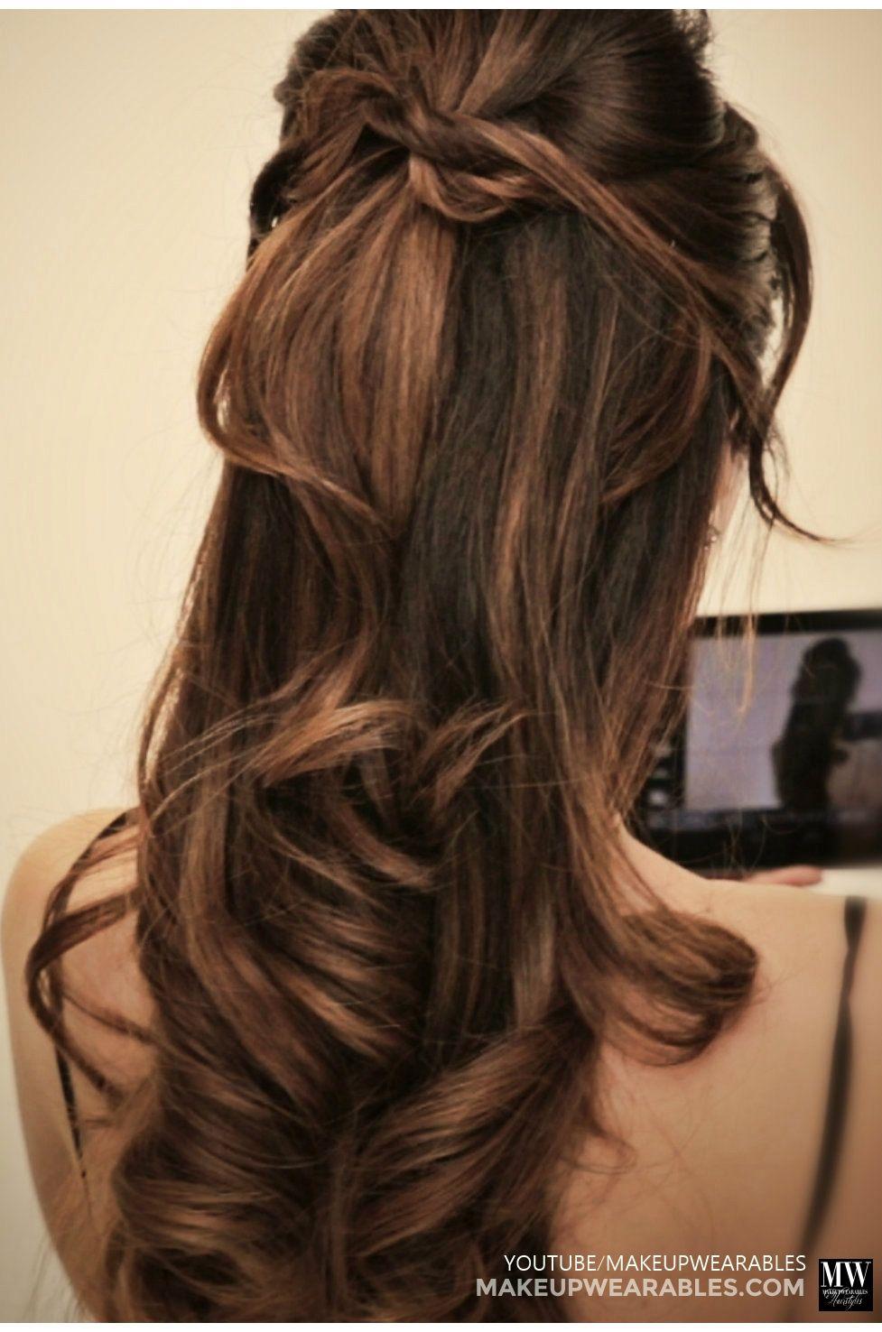 hiden twist half-updo tutorial | #hairstyle #hair tutorial | ask