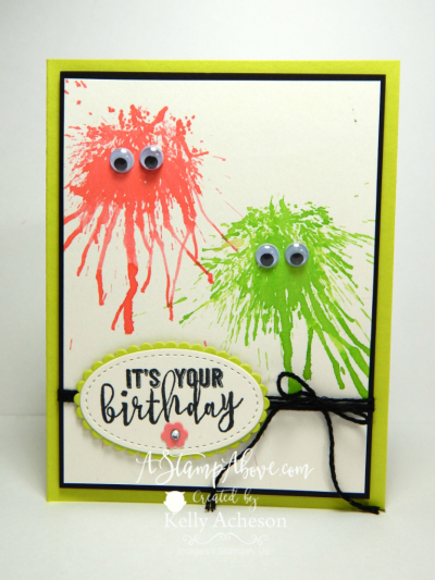 JOIN MY VIP ONLINE CLUB May featured a great technique called INK – Video Birthday Cards for Kids
