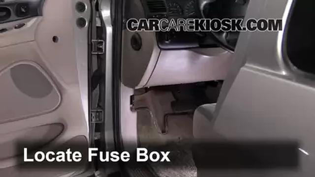 97 Ford Aerostar Fuse Box