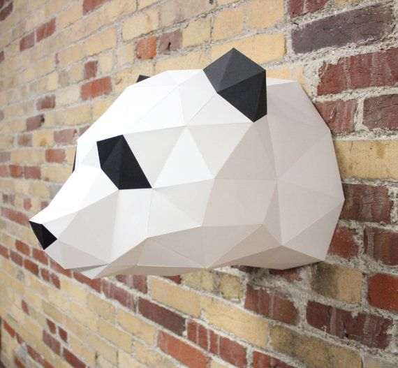 Claire the panda bear papercraft diy kit zoo animal diy craft claire the panda bear papercraft diy kit zoo animal diy craft kit do it yourself craft faux taxidermy diy papercraft animal head solutioingenieria Choice Image