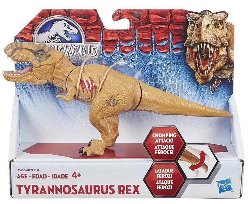 """Dilophosaurus 4/"""" Hasbro JurassicPark Toys Set 3 Mosasaurus Tyrannosaurus Rex"""
